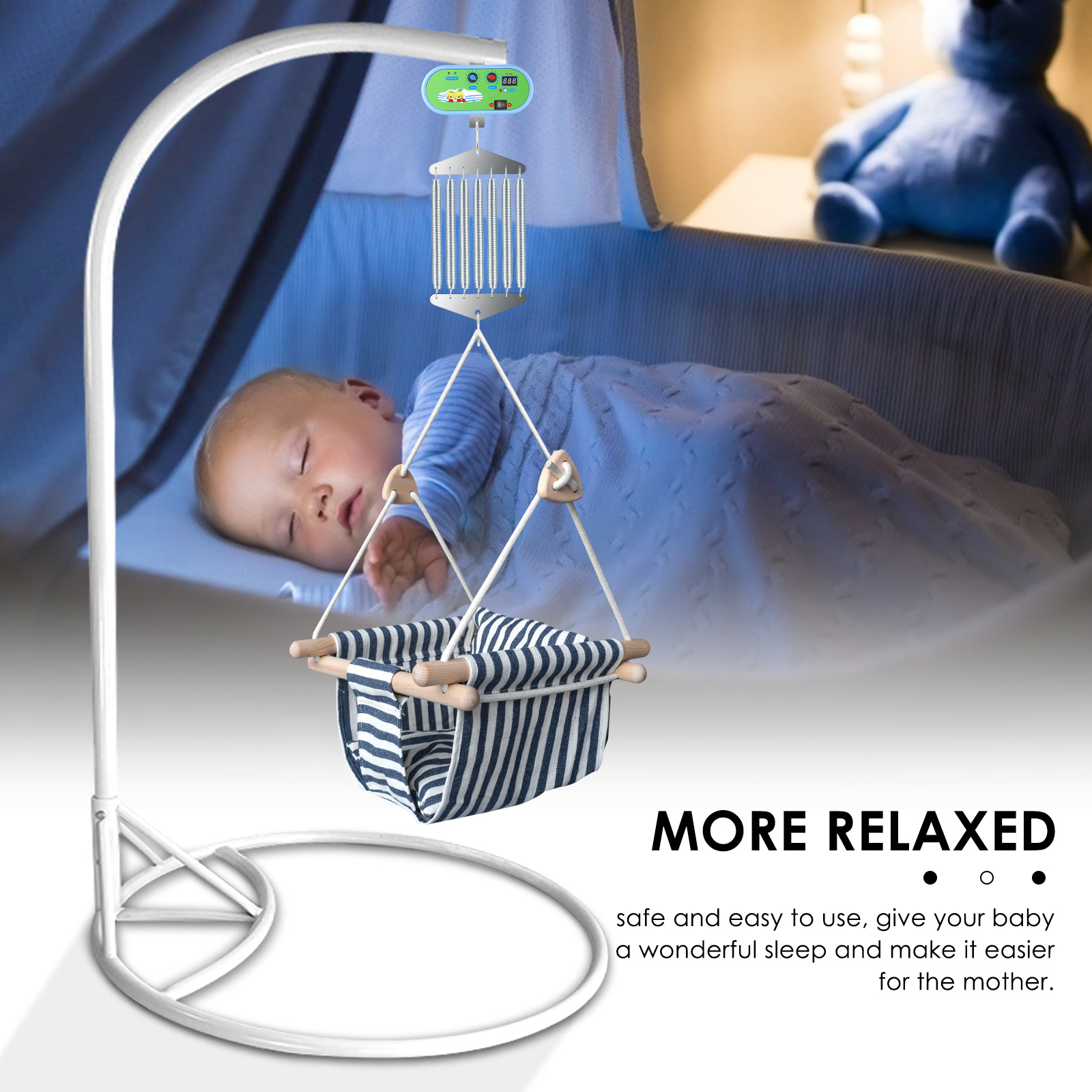 100-260V Input Electric Cradle Baby Rocker Controller Cradle Driver Adjustable Timer Baby Swing Auto Rock Play Vibrating Sleeper