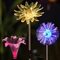 3 шт. в упаковке  солнечный светильник  садовый светильник  украшение  водонепроницаемый  меняющий цвет  Одуванчик  лилия и подсолнух