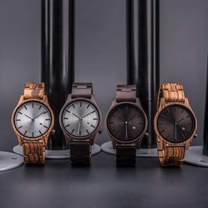 Image 2 - DODO DEER Watch uomo giappone quarzo Zebra orologi in legno maschio semplice reloj hombre calendario data Display Dropshipping OEM B09