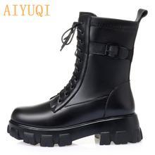 Aiyuqi/женские зимние ботинки; Водонепроницаемые; Новинка 2020