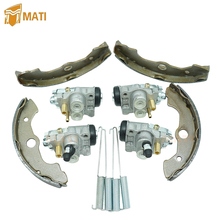 Front Left Right Brake Wheel Cylinders All Four with Brake Shoes for Honda TRX400FW TRX450 Fourtrax Foreman 45330 HN0 A01