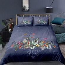 Floral Bedding Set King Size Elegant Fresh Beautiful 3D Duvet Cover Grey Queen Twin Full Single Double Unique Design Bed Set цена 2017