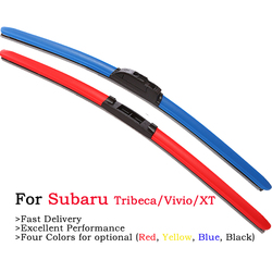 HESITE Colored Hybrid Wiper Blades For Parrilla Porta Equipaje Llave Subaru Tribeca B9 Accessories 2008 2011 Painel Front Wipers