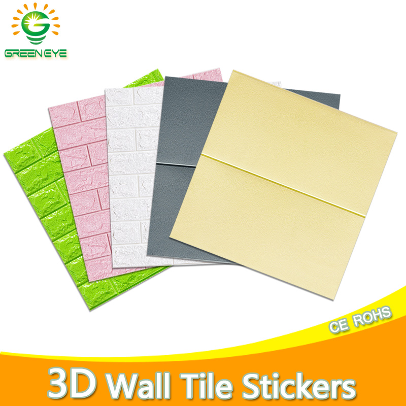 3D Wallpaper New DIY Marble Sticker Waterproof 3D Wall Stickers Brick Stone Pattern Self-Adhesive Wallpaper For Kitchen Bedroom