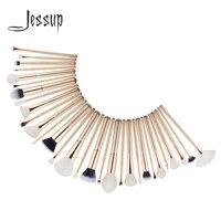 Jessup Makeup Brushes Set Superfine Fiber Powder Eyeshadow Concealer Liner Blush Contour 30pcs Cosmetic Kit Gold Rose Gold T400
