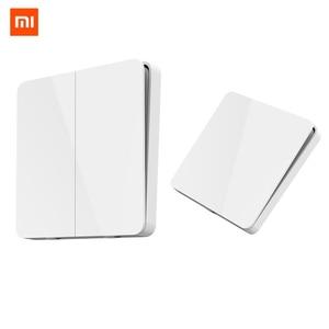 Image 1 - Xiaomi Mijia temel anahtar duvar anahtarı tek/çift açık çift kontrol anahtarı 2 modları anahtarli akıllı lamba ışıkları anahtarı