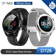 Heißer Verkauf DTN O.I DT NO.1 DT28 EKG Erkennung Herz Rate Monitor Smart Uhr IP68 Wasserdichte Aktivität Fitness Track Blut druck