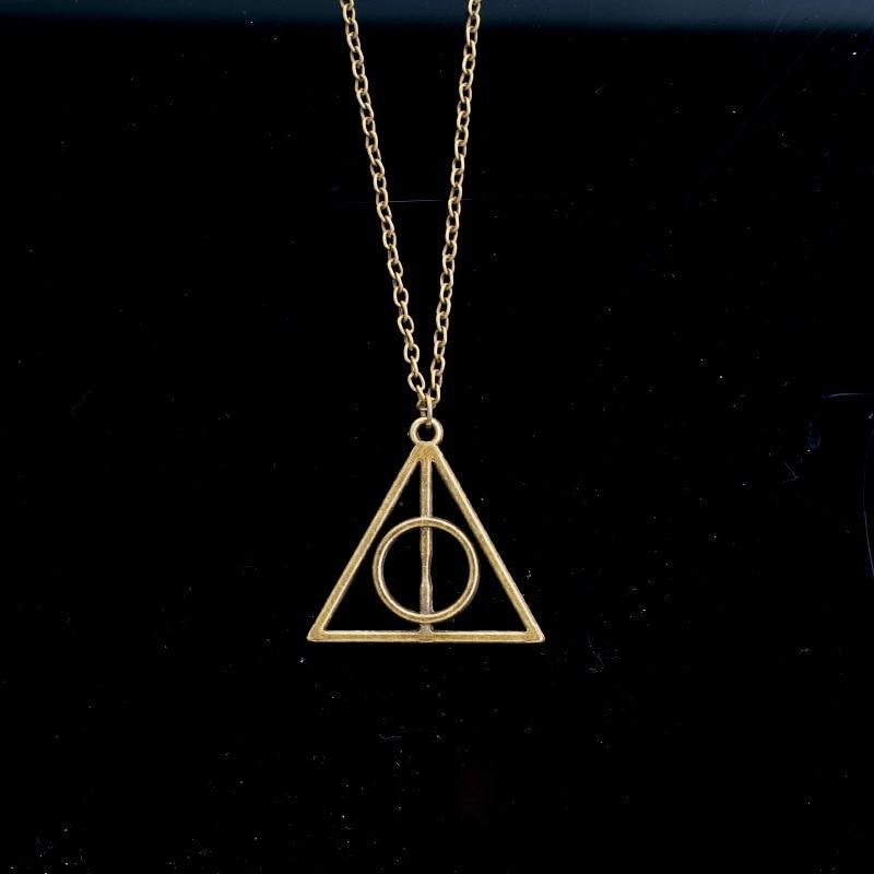 Hot Sale 2019 Harri Potter Luna Deathly Hallows Triangle Circular Vintage Long Necklaces Action Toy Figure