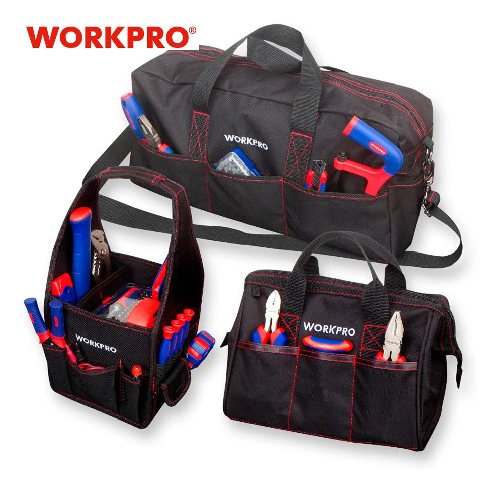 WORKPRO Durable Tool Bag Combo 2PC Handbags 1PC Shoulder Bag 8