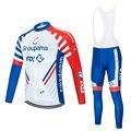 Весна Осень 2019 pro team groupama fdj велосипедные Джерси комплекты с длинным рукавом Ropa Ciclismo быстросохнущая одежда для горного велосипеда комплекты ...