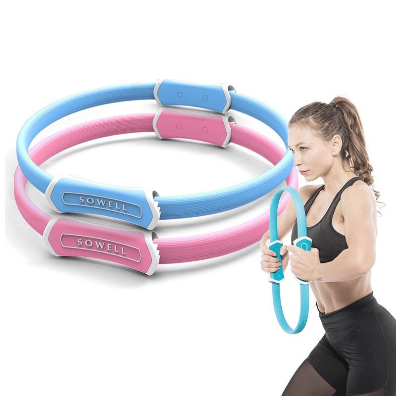 Yoga Accessories Mini Fiberglass Fiber Pilates Ring Ladies Fitness Equipment Thin Thigh Yoga Wheel Yoga Ring Elastic Magic Ring