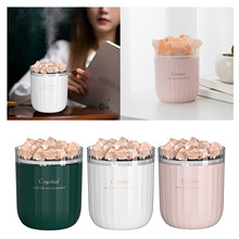 Essential Oil Diffuser Aromatherapy Humidifier Himalayan Salt Cool Mist Humidifier Safety Switch with 7LED Light humidificador
