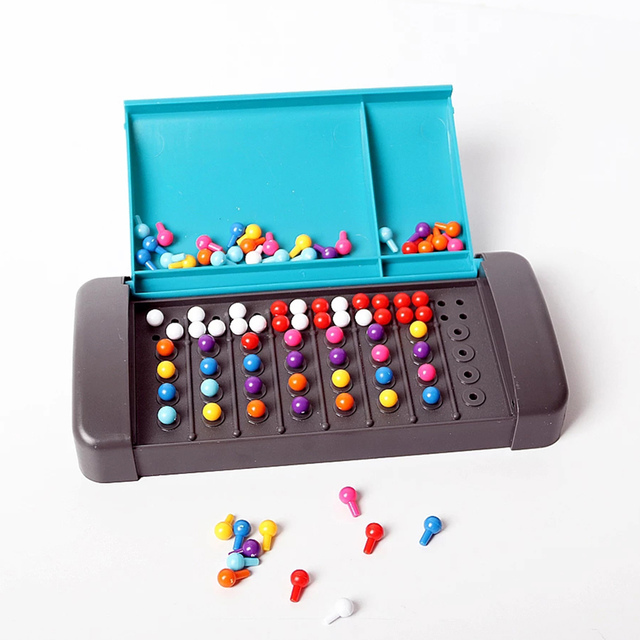 Montessori Educational Toys For Children Mastermind Game Code Breaking Mini Board Toy For Family Traveling Toy Parchis 1