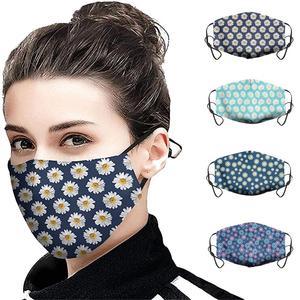 Маска с цветочным принтом для защиты от микробов для взрослых 2020 хлопковые маски для лица Моющиеся Многоразовые пылезащитные ветрозащитны...