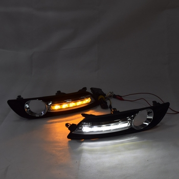 Car Flashing for Nissan Sentra Sylphy 2012-2015 LED DRL Daytime Running Lights Daylight Yellow Turn Signal Lamp