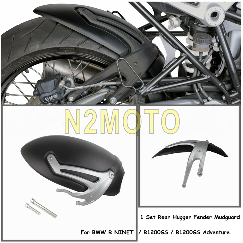 For BMW R NINET 2014-2018 Black Rear Hugger Fender Mudguard Wheel Splash Guard For BMW R1200GS 2004-2012 R1200GS Adventure 05-13