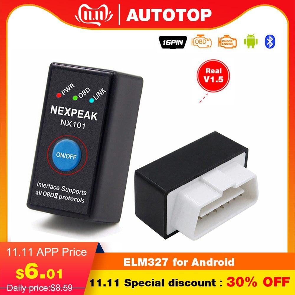 OBD2 EML327 V1.5 Car Diagnostic Tool Mini Bluetooth Adapter ELM327 OBDII Auto Diagnostic Tool Car Diagnostic Scanner For Android
