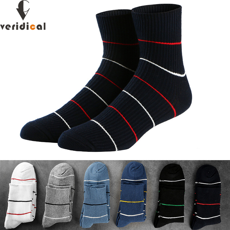 VERIDICAL Good Quality 5 Pairs/lot Men Socks Cotton Long Business Meia Harajuku Diabetic Fluffy Socks Meias Masculino Calcetines