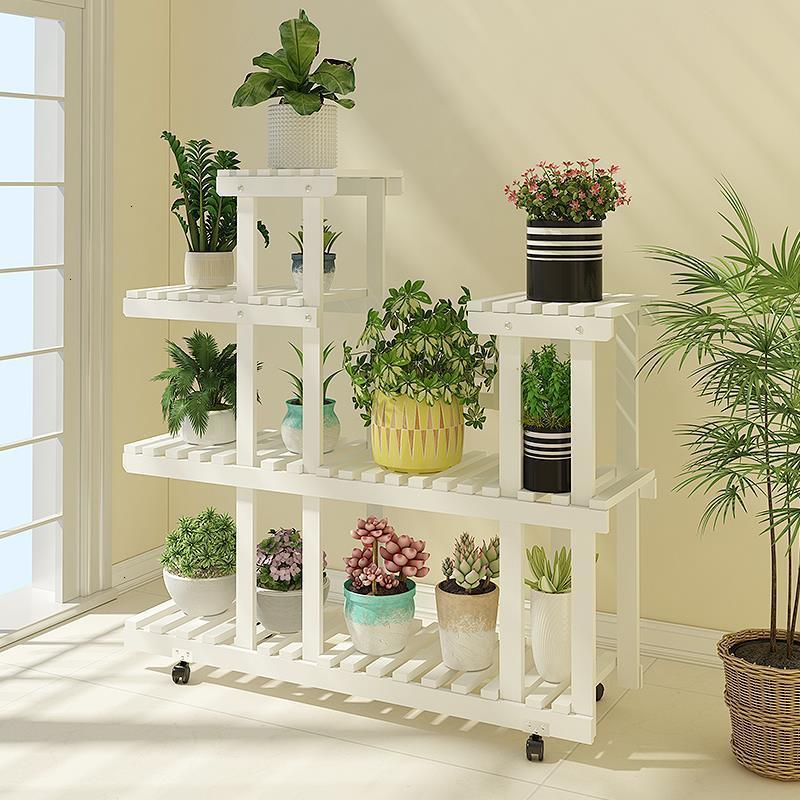 Flores Etagere Plante Wood Soporte Interior Estante Para Plantas Balkon Flower Rack Dekoration Stojak Na Kwiaty Plant Shelf