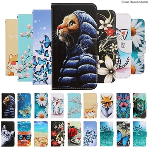 Pu Leather Painted Flip Case F