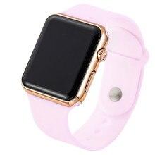 2019 Новый светодиодный розовый ремешок для цифровых часов силиконовая группа женщин смотреть мужские часы наручные часы для часов Montre Femme