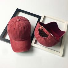 Nowy have klasyczny regulowany dorywczo jednolity kolor młodzieży czapki Unisex kobiety mężczyźni Baseball modna czapka myte styl kapelusz męskie czapki tanie tanio Bigsweety CN (pochodzenie) COTTON Dla dorosłych Stałe Na co dzień