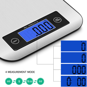 Image 2 - AIRMSEN 22LB/10KG אלקטרוני מטבח בקנה מידה מזון דיגיטלי נירוסטה ביתי במשקל בקנה מידה LCD מדידת כלים