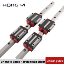 Best prices 100% size New HIWIN linear guide rail HGH15 with 4 pcs of linear block carriage HGH15CA or HGW15CA HGH15 CNC parts