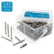 Nails Torx Slot #10×2-3/8 Inch #10×2 Inch Stainless Steel Drywall Screws Deck Screws Wood Screws Renovation Installation