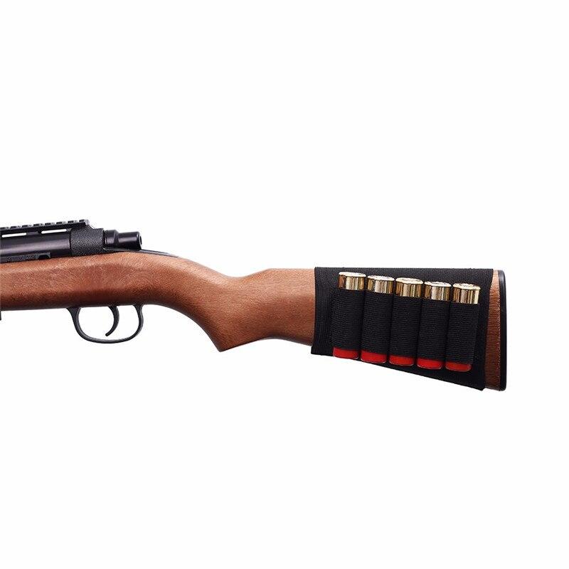 5 Round Shotgun Ammo Carrier Shell Holder 12/20 GA Military Bandolier Carrier Pouch Airsoft Rifle Hunting Shotgun Shell Holder
