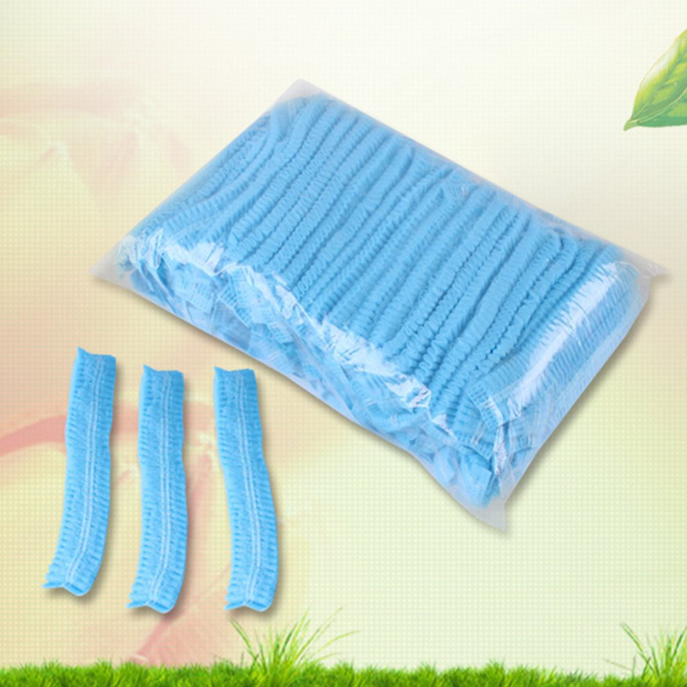 Disposable Hat Non-Woven Hat Hooded Strip Hat Wide Stretch Band Dust Protection For Hospital And Laboratory 100 Pcs
