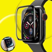 Protetor para apple assistir protetor de tela de vidro 44mm serie 6 40mm se 3 protetor de tela para apple assista filme vidro segurança 42mm