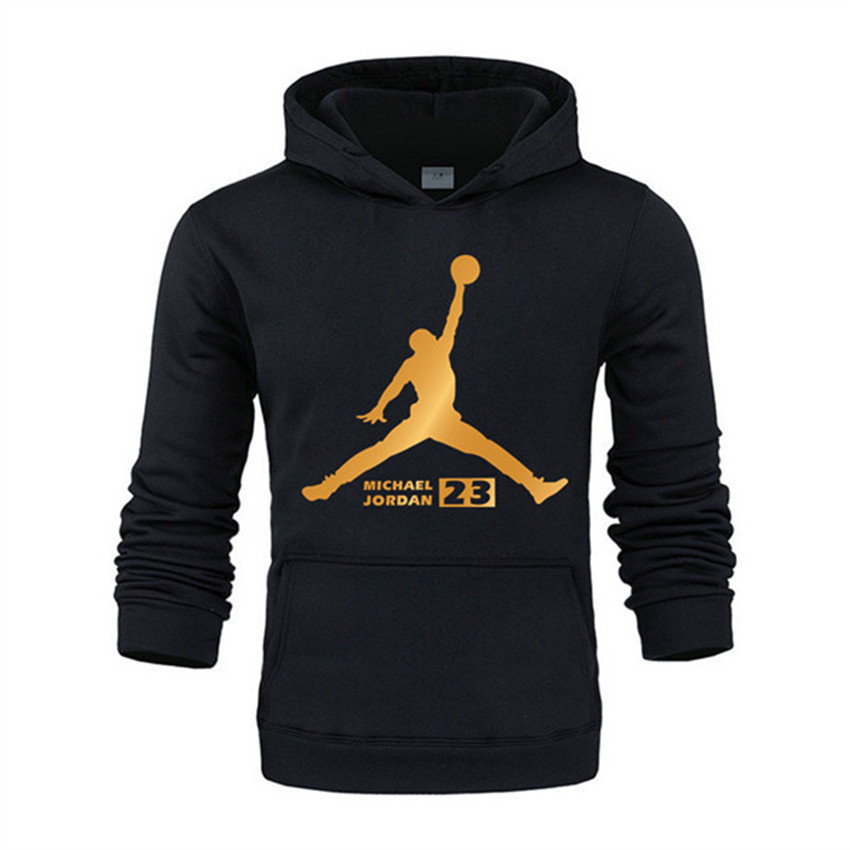 2019 Autumn New Arrival Gold JORDAN 23 Print Hoodies Men Women Sweatshirt Hip-Hop Streetwear Fashion Pullover Hoody Clothing