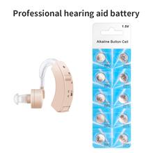 10 sztuk 20 sztuk rozmiar LR44 baterie do aparatów słuchowych AG5 akcesoria do aparatów słuchowych profesjonalna bateria do aparatu słuchowego tanie tanio vive fit Chin kontynentalnych LR44 AG5 Sealed Battery Hearing Aids Can Be Stored For 4 Years 10Pcs 20Pcs