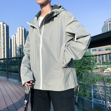 2019 autumn hombre Jacket Leisure Time Teenagers Easy bomber Windbreaker Male Loose Long Coat Thin Chinese Style Black