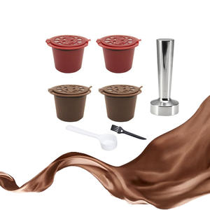COFFEE-FILTER Refillable Nespresso Kitchen-Accessories 20ml 4PCS for with Spoon-Brush