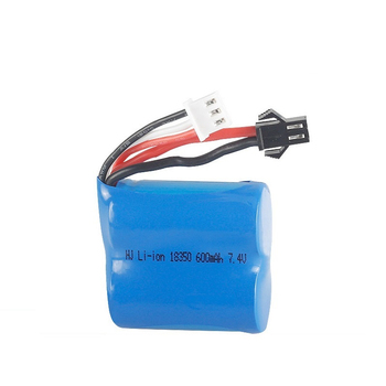 7.4v 600mAh/1200mAH/1800mAH Li-ion battery for H100 H102 2S 18350 7.4v Li-ion Battery for JJRC S1 S2 S3 S4 S5 High Speed RC boat image