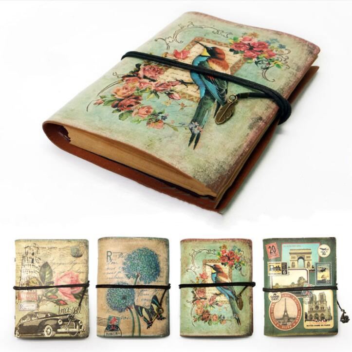 Newest A5 Loose-leaf Old Fashion Vintage Sketchbook For Drawing Painting Graffiti Spiral Notebook Dairy Planner Gift Stationery