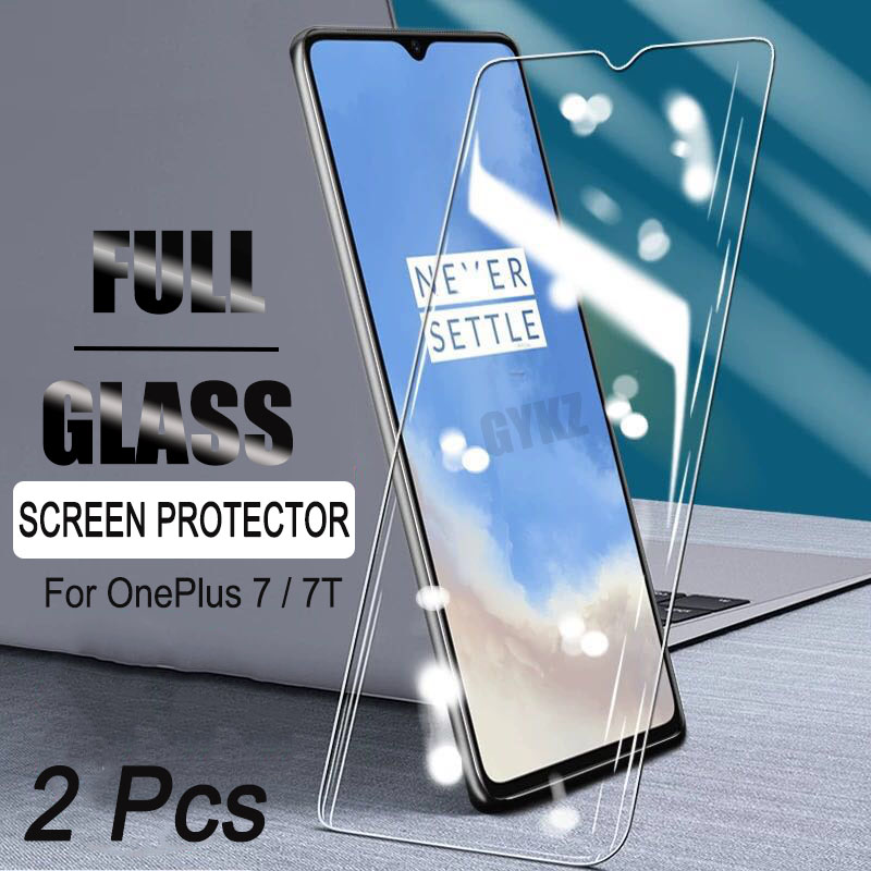 2Pcs Tempered Glass For OnePlus 7 7T Screen Protection Explosion-Proof Tempered Glass For OnePlus 7 7T Tempered Glass Film