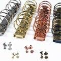 Metall Spiral Ringe Binder Clip Mit 2 Pairs von Schraube Für Tagebuch Notebook Planer A5 A6 Persoanl A7 Binder Clip datei Ordner