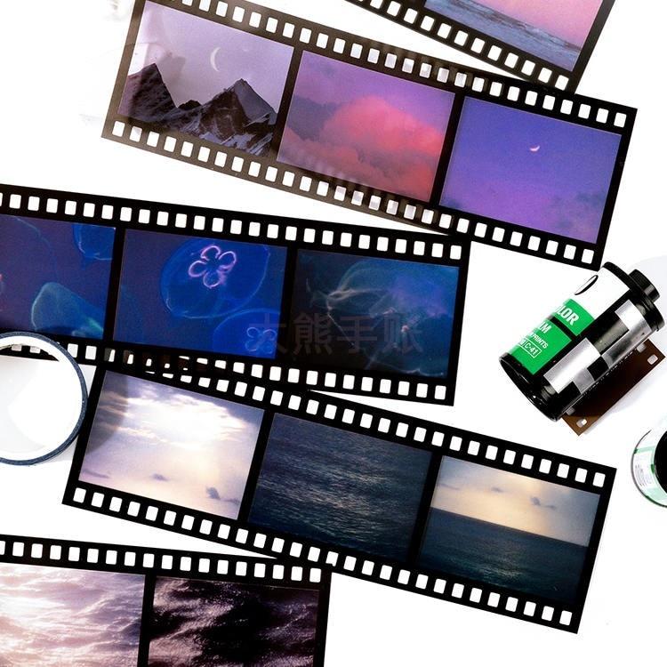 JIANWU album sastera siri pita bahan pelekat kertas set asas hiasan - Pad nota dan buku nota - Foto 4