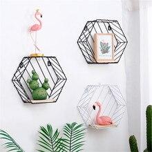 Minimalist Metal Wall Hangings Racks with Wooden Board Chic Flower Pots Storage Racks Nordic Decor Desktop Organizer Basket