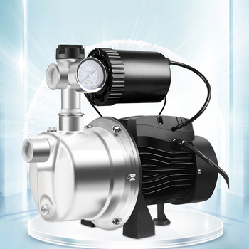 220V stainless steel booster pump household automatic self-priming pump tap water solar pipeline cold and hot water booster pump car washer 220v household high pressure cleaner self suction cleaner water jet brush pump self washing pump