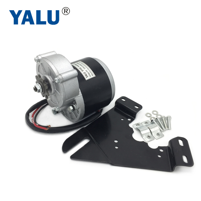 350W 24V Ebike Escooter Electric Bicycle Conversion Kit MY1016Z3 Unitemotor Brushed Gear DC Motor no Foot With Install Bracket Electric Bicycle Motor    - AliExpress