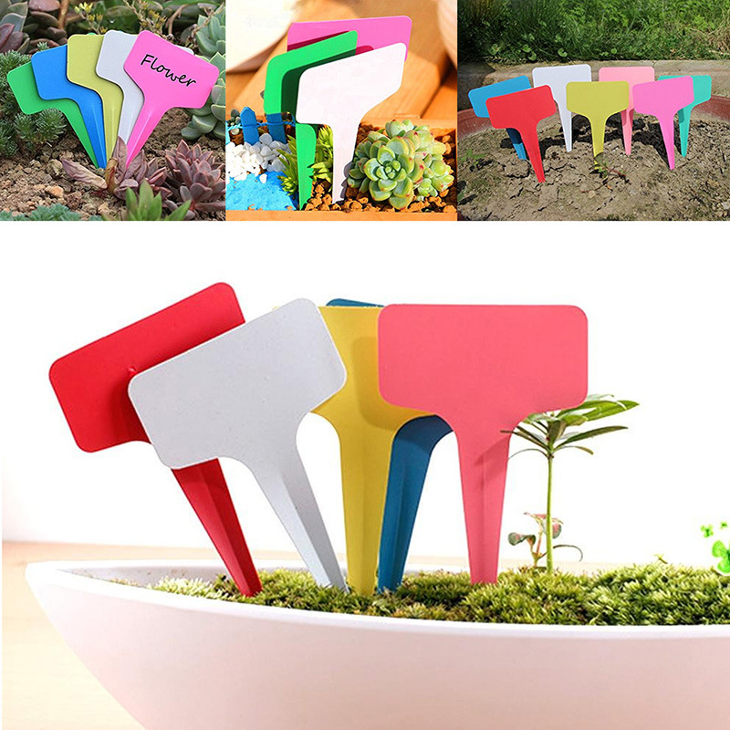 20 Pcs Plastic Garden Label Tags Farm Vegetable Flower Gardening Waterproof Mark