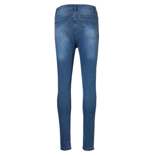 Denim Ripped Biker Jeans 3