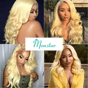Image 5 - 4x4 Closure Wig 13x4 13x6 613 Honey Blonde Brazilian Wig Remy Hair Body Wave Wig Glueless Lace Front Human Hair Wigs for Women