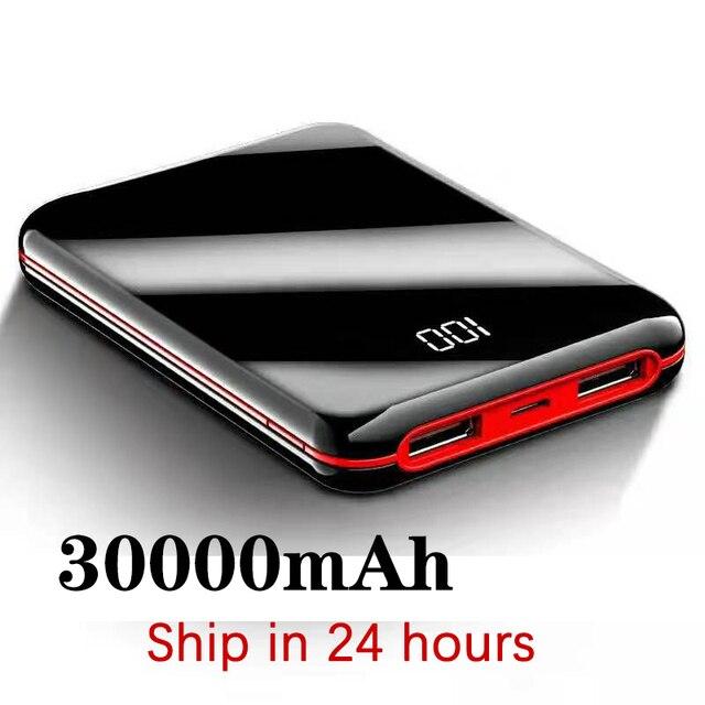 Plein écran mini batterie externe 30000mah PowerBank batterie externe USB Portable téléphone chargeur de batterie pour IPhone appauvrbank