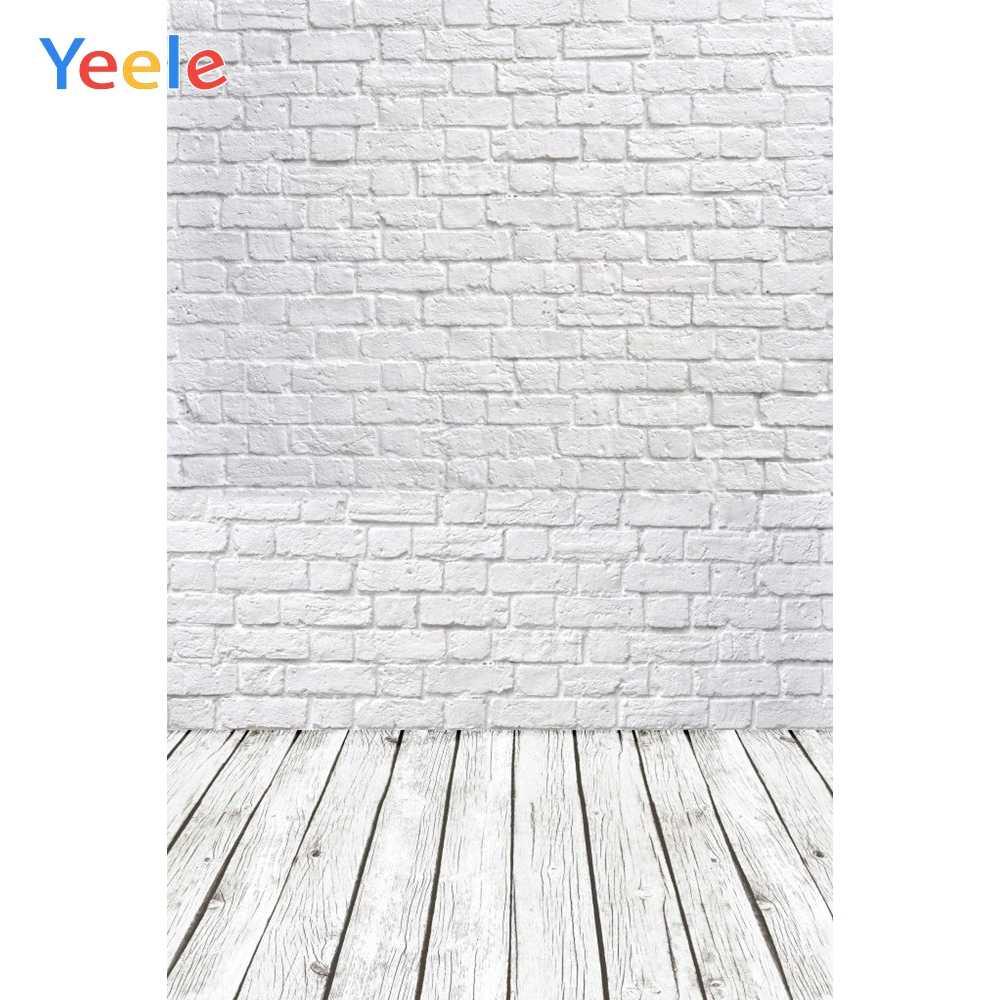 Photophone blanc brique mur photographie décors en bois plancher arrière-plans pour animal de compagnie jouet Photo Studio bébé douche nouveau-né enfants