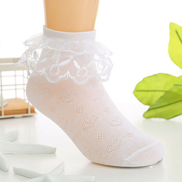 Toddlers Girls Lovely Lace Socks  4
